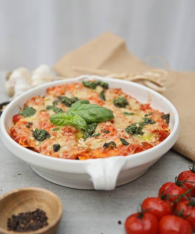Divine Italian beef, tomato and mozzarella cannelloni
